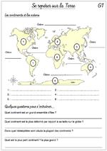 Géographie - Les fiches de préparations avec Odysséo CE2