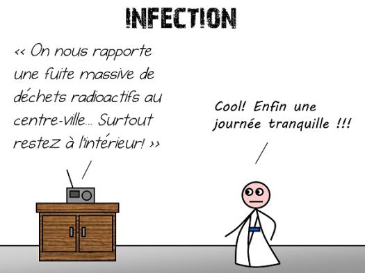Infection : fuite de produits radioactifs