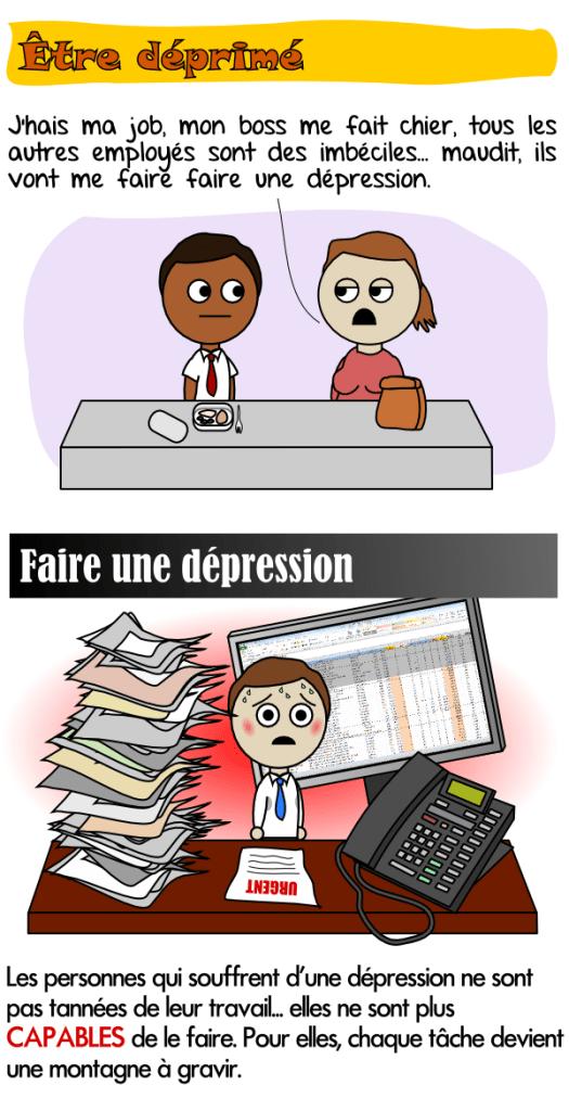 Les personnes qui souffrent de dépression ne sont plus capables de faire leur travail