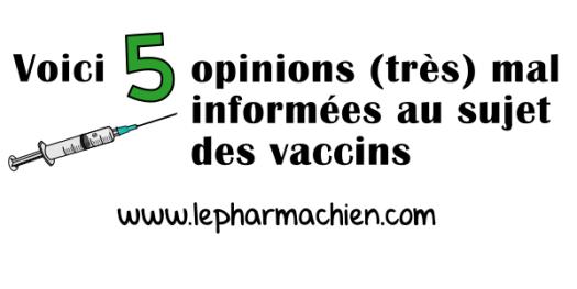 5 opinions mal informées au sujet des vaccins (0)