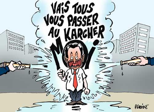 Le Karcher nouveau brumisateur de Sarkozy