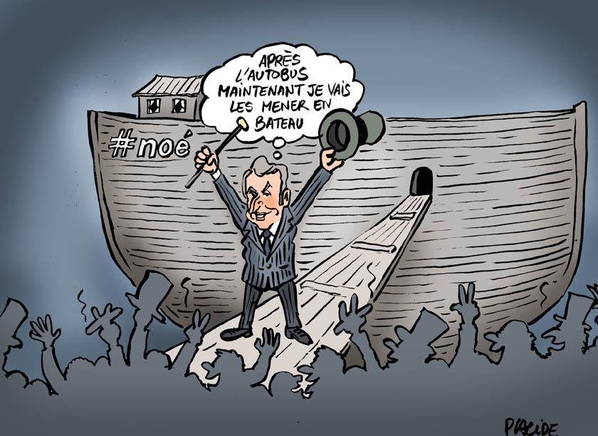 Macron en Noé : Après lui le déluge!