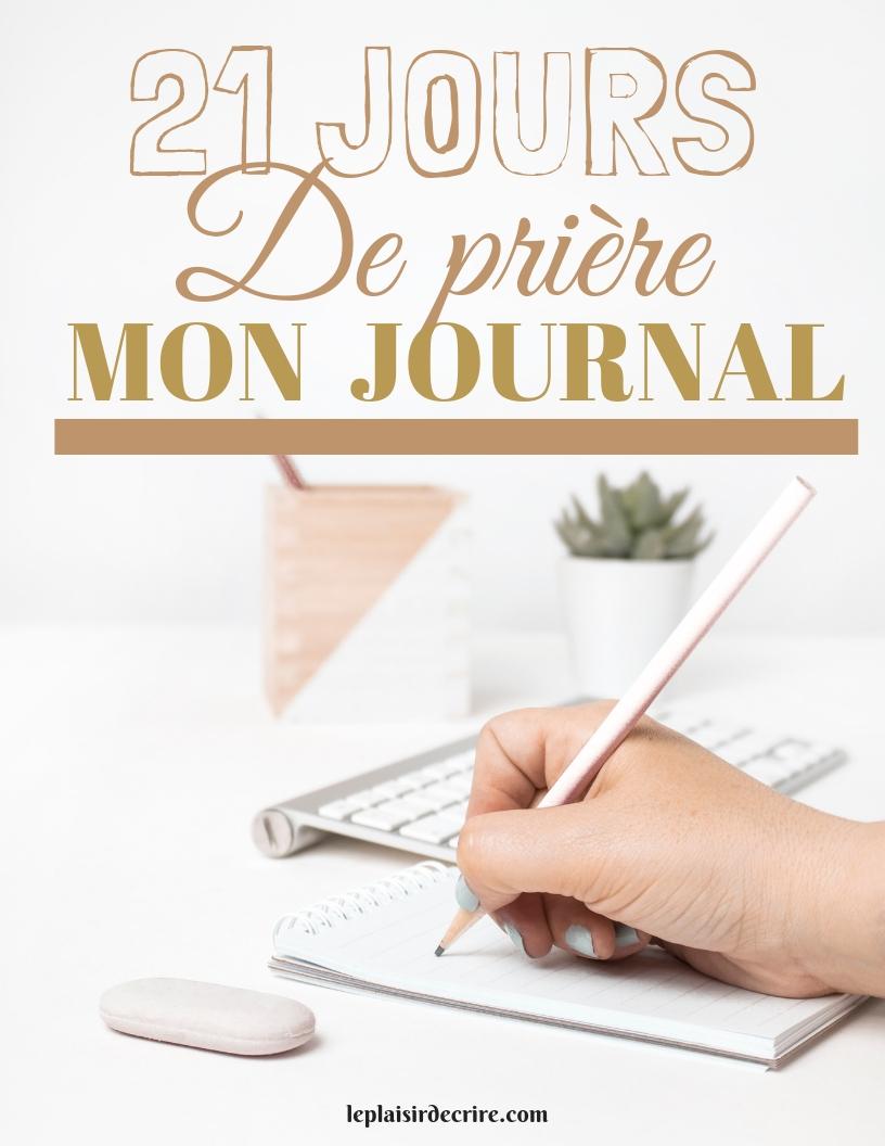 21 jours de prière – journal de prière