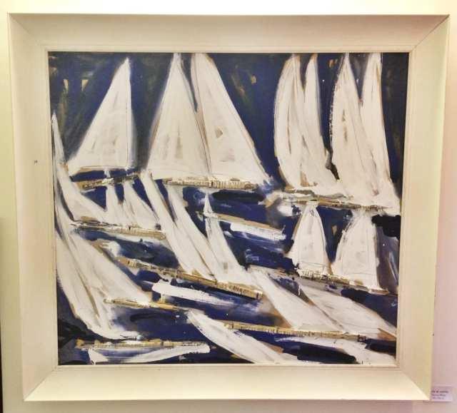 Dettagli quadro blu vele al vento