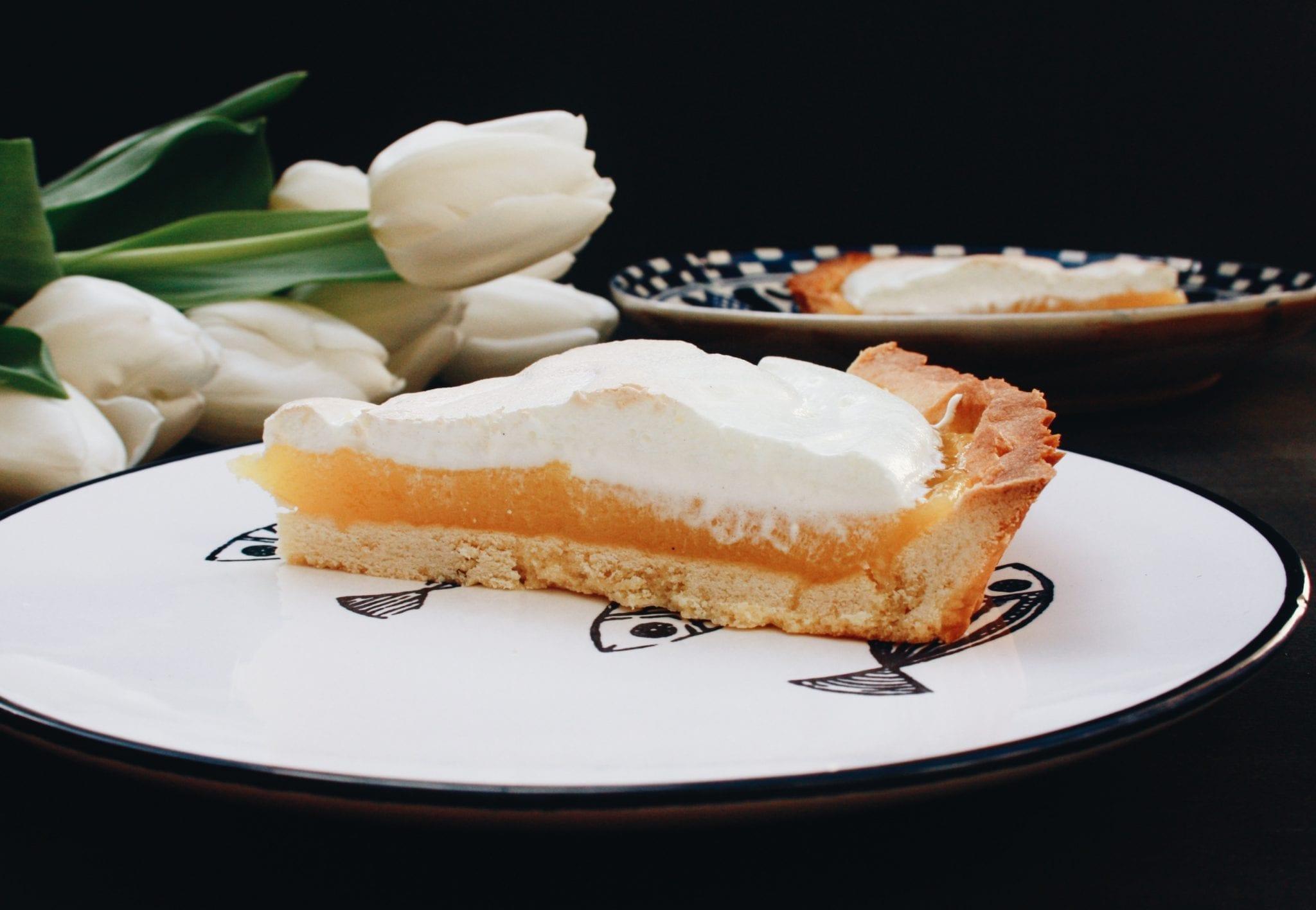 fetta di tarte au citron meringuée - Cuor di Biscotto - Le Plume