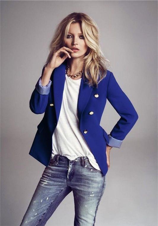 Kate moss giacca - tshirt bianca - LePlume