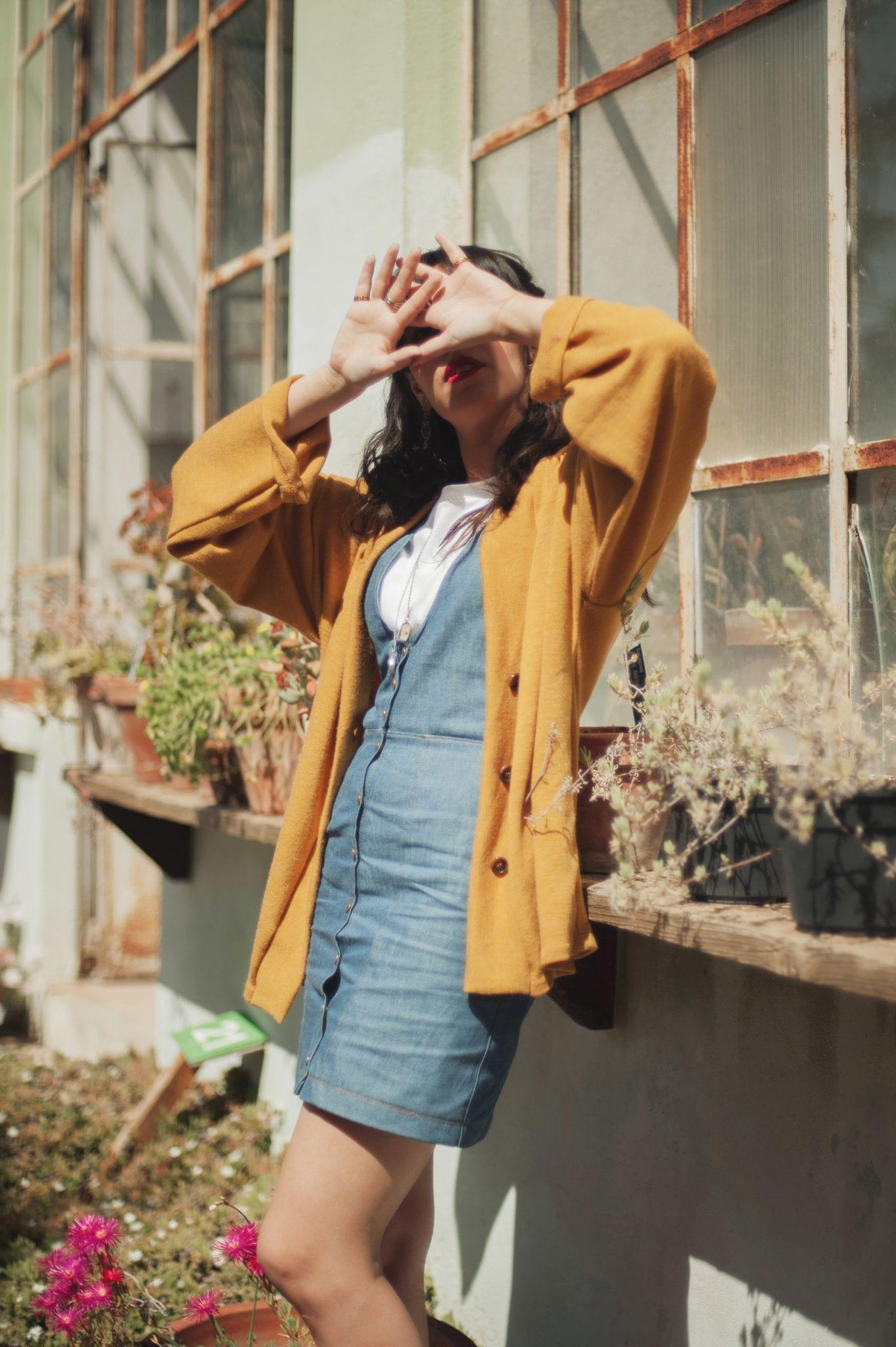 abito jeans - Carolina Emme - Le plume