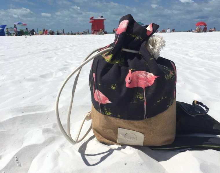 La goffa bag fenicotteri - borse mare - Le Plume