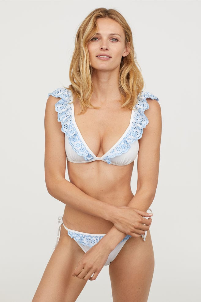 modella bikini volant H&M - costumi da bagno - LePlume