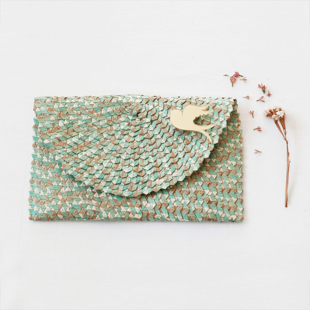 BiCA_clutchbag_MixTurquoise - BiCA-Good Morning Design - Le Plume
