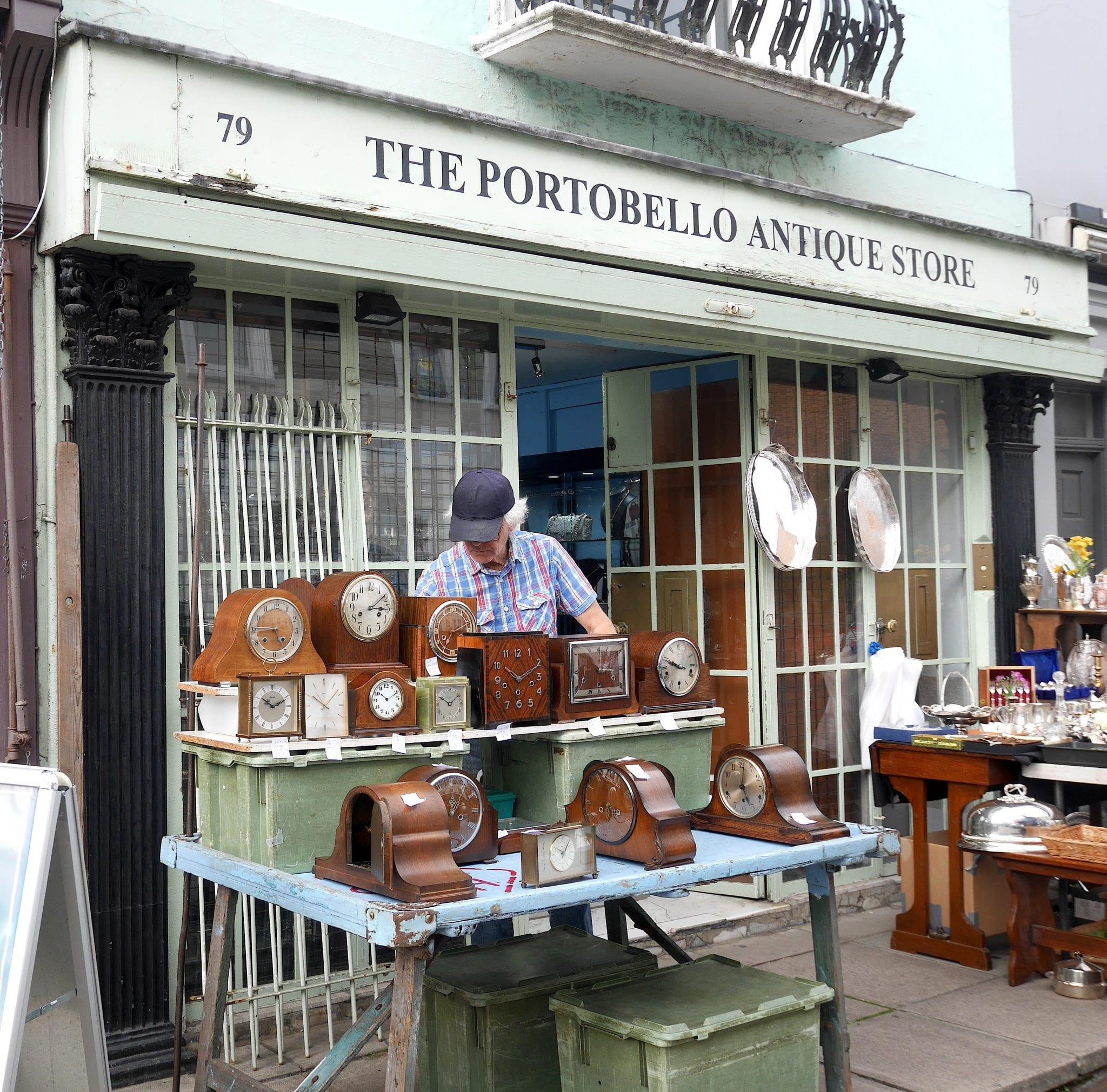 Portobello store- Notting hill - Prima volta a Londra - Le Plume