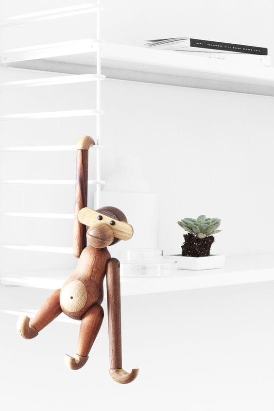 Kay Bojesen monkey teak - regali di Natale - Le Plume