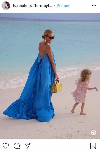 Maxi dress blu slip - trend estivi - Le Plume