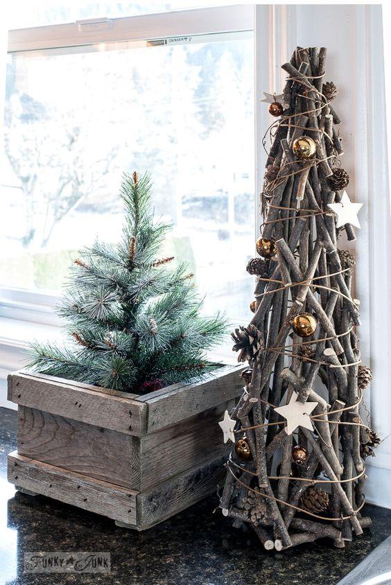 Natale legno naturale - I colori del Natale - Le Plume