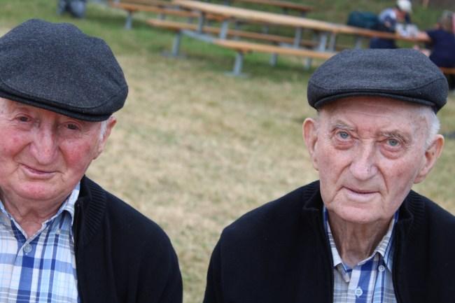 Les célèbres Frères Morvan sont venus en toute discrétion passer l'après-midi au festival.