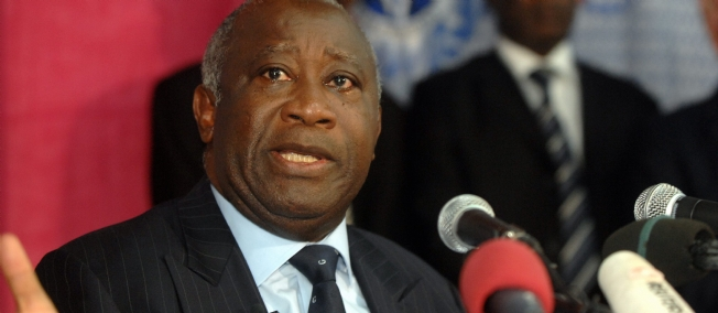 Le président Ivoirienen Laurent Gbagbo
