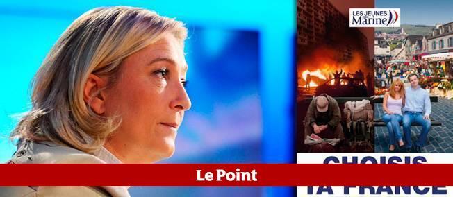 Dévoilée le 9 novembre, l'affiche réalisée par les jeunes du Front national oppose de façon manichéenne la France du chaos à celle de la sérénité.