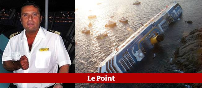 Le commandant Francesco Schettino, commandant du Concordia