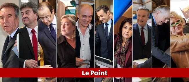 Le second tour de la présidentielle verra s'affronter Nicolas Sarkozy et François Hollande.