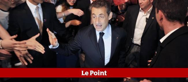 Nicolas Sarkozy à Tours, lundi.