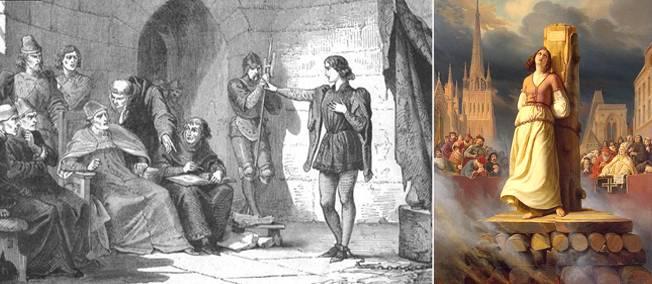 30 mai 1431. Jeanne d'Arc est brûlée pour avoir enfilé un pantalon. Quel tour de Cauchon !