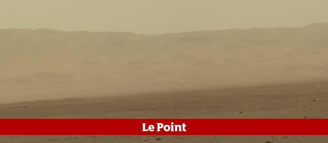 Vue de Mars depuis le cratère Gale.