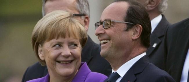 François Hollande et Angela Merkel, le 5 septembre 2014.