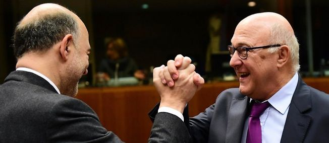 Pierre Moscovici et Michel Sapin. Photo d'illustration.