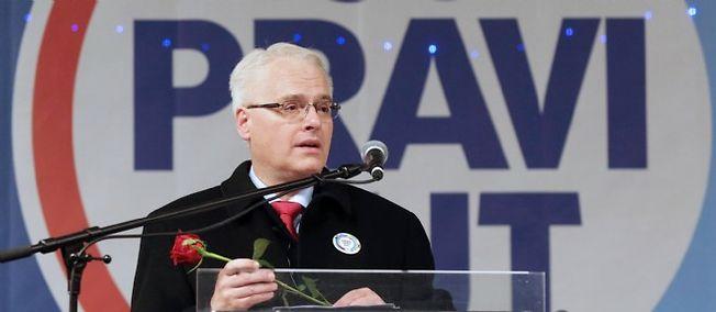 Le président croate Ivo Josipovic.