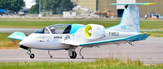 L'avion électrique d'Airbus E-Fan présenté lors du dernier Salon du Bourget, en juin dernier.