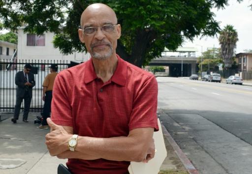 Earl Hutchinson, auteur et militant anti-discriminations, le 10 août 2015 à Los Angeles © Veronique Dupont AFP