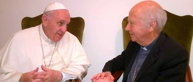 Le pape Francois et Monseigneur Gaillot se sont entretenus mardi.