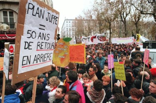"""Résultat de recherche d'images pour """"photo 1995 contre la loi juppe"""""""