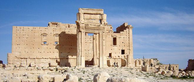 Le temple de Bel, à Palmyre, en 2009.