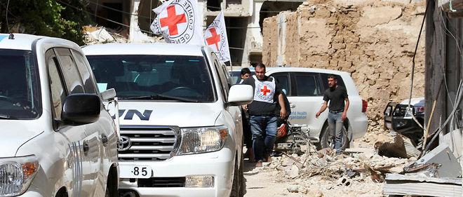 Un convoi humanitaire entre à Daraya en Syrie (image d'illustration).