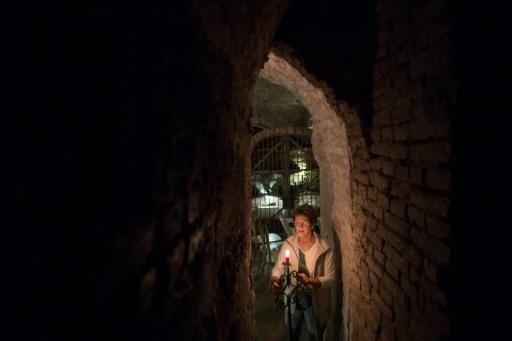 Gabriele Lukacs, une guide des catacombes du 13e siècle à Vienne, le 19 octobre 2016 © JOE KLAMAR AFP