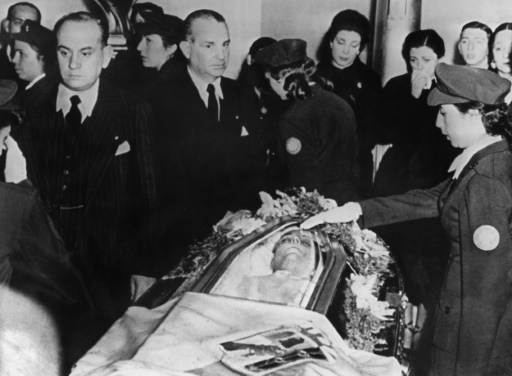 Funérailles d'Eva Peron à Buenos Aires en août 1952 ©  INTERCONTINENTALE/AFP/Archives