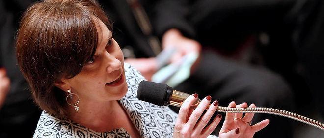 La ministre a défendu une proposition de loi socialiste à l'Assemblée.