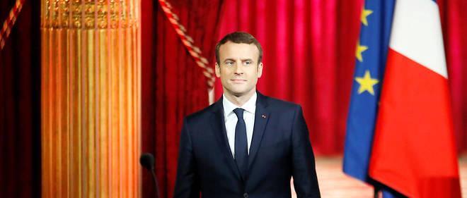 Emmanuel Macron lors de son investiture le 14 mai 2017.