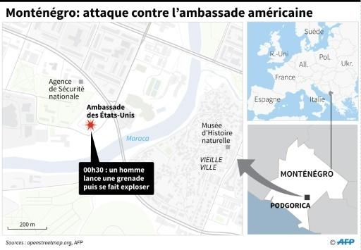Monténégro: attaque à la grenade contre l'ambassade américaine  © Laurence CHU AFP