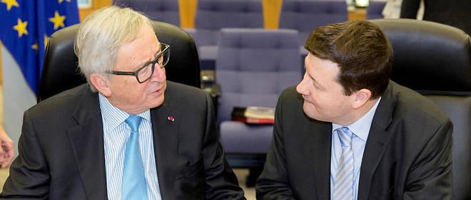 Jean-Claude Juncker et Martin Selmayr, son directeur de cabinet, nommé secrétaire général de la Commission, au grand dam des députés européens.
