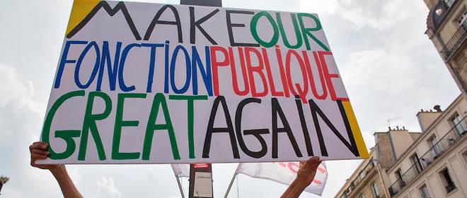 Les syndicats de fonctionnaires ont appele a une journee d'action contre la reforme des trois fonctions publiques et le projet de suppression de 120 000 agents d'ici a la fin du quinquennat