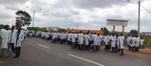 Etudiants en médecine lors d'une manifestation (photo DR)