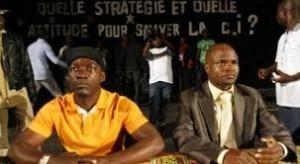 Le secrétaire national de la JFPI, Konaté Navigué aux côtés de Charles Blé Goudé (Ph: archives)