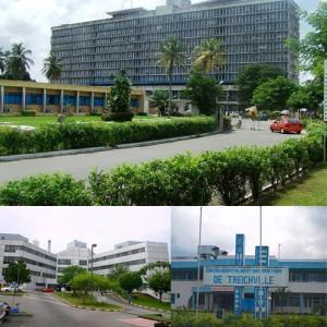 Les trois CHU d'Abidjan (Ph: Dr)