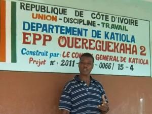 LE DIRECTEUR DE L'IEP2 OUATTARA MALE (PH: S.K)