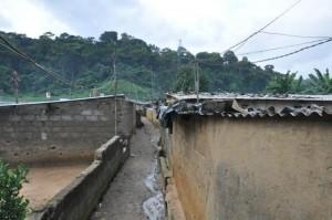 Une vue d'un des quartiers précaires (Ph: Dr)