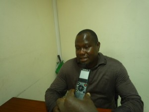Le Secrétaire général du SYNAT-FCC (Syndicat National Autonome des Travailleurs de la Filière Café-Cacao), Tro Koui Jean-Claude (Ph: Dr)