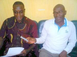 Le président du Syndicat national pour le rassemblement des transporteurs de Côte d'Ivoire (Snrtci) Sangaré Dramane dans les locaux de lepointsur.com