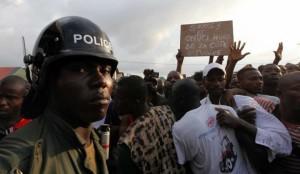 Une des manifestations antifrançaises en Côte d'Ivoire (Ph:Dr)